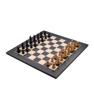 Schaakbord zwart esdoorn ingelegd 40x40 cm