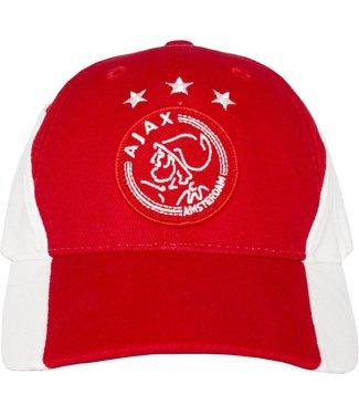 Ajax Cap wit rood wit met logo kids