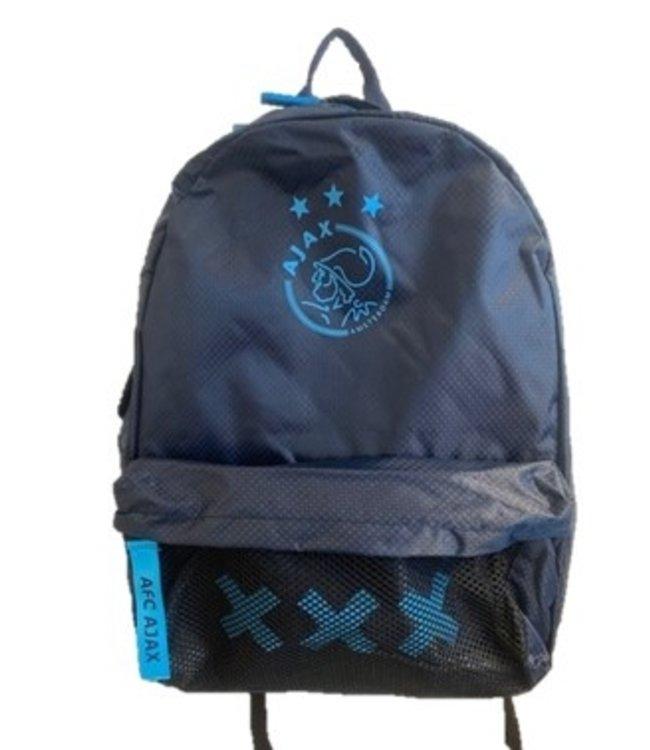 Ajax Rugtas / rugzak groot Blauw mesh XXX