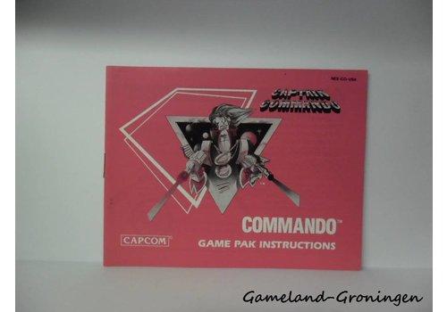 Captain Commando (Handleiding, USA)