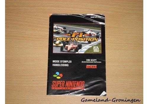 F1 Pole Position (Handleiding, FAH)