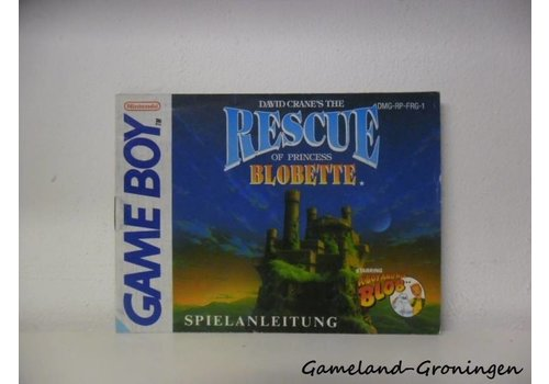 Rescue of Princess Blobette (Manual, FRG)
