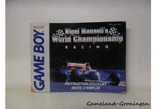 Nigel Mansell's World Championship Racing (Handleiding, FAH)