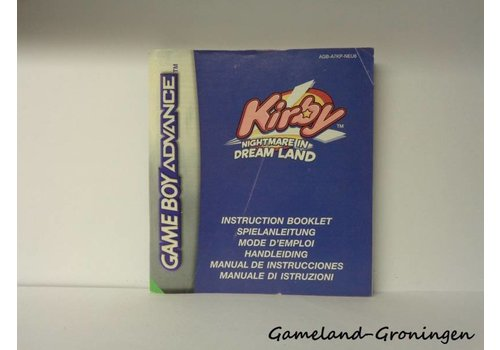 Kirby Nightmare in Dream Land (Handleiding, NEU6)