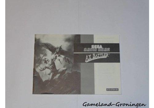 Ax Battler A Legend of Golden Ax (Manual)