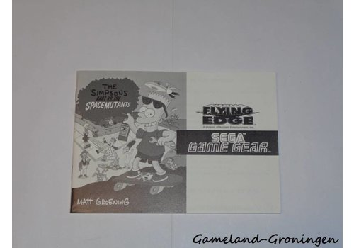 The Simpsons Bart vs the Space Mutants (Manual)