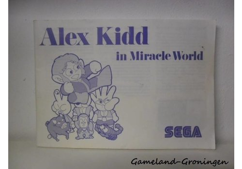 Alex Kidd in Miracle World (Handleiding)