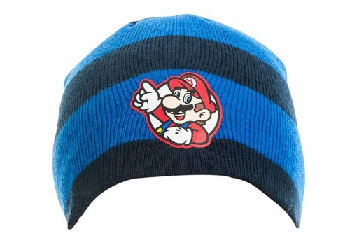 Super Mario - Mario Gestreept Muts