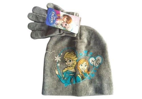 Disney's Frozen - Kinder Muts & Handschoenen Grijs 52 cm
