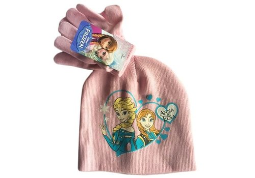 Disney's Frozen - Kids Beanie & Gloves Pink 52 cm