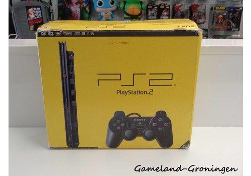 PlayStation 2 Slimline met Controller & Bedrading (Compleet, Zwart)