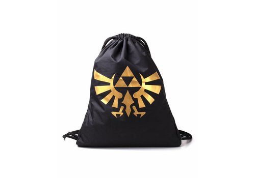 Zelda - Gold Rubber Printed Gym Bag