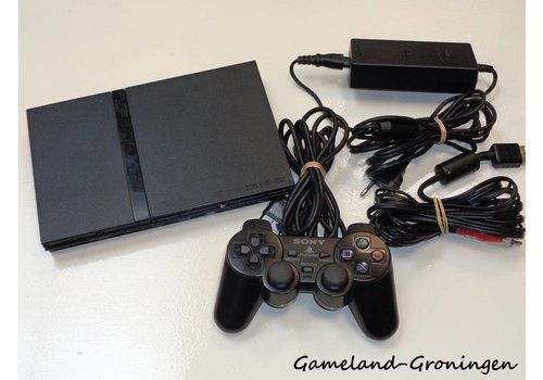 PlayStation 2 Slimline with Controller & Wiring (Black)