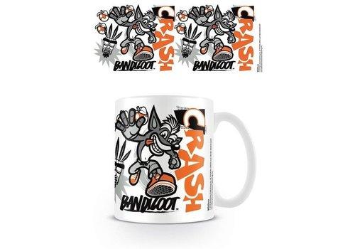Crash Bandicoot  - Stencil Mug