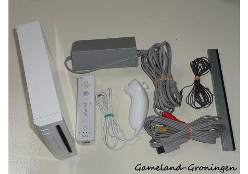 Nintendo Wii met Controller, Nunchuk & Bedrading (Wit)