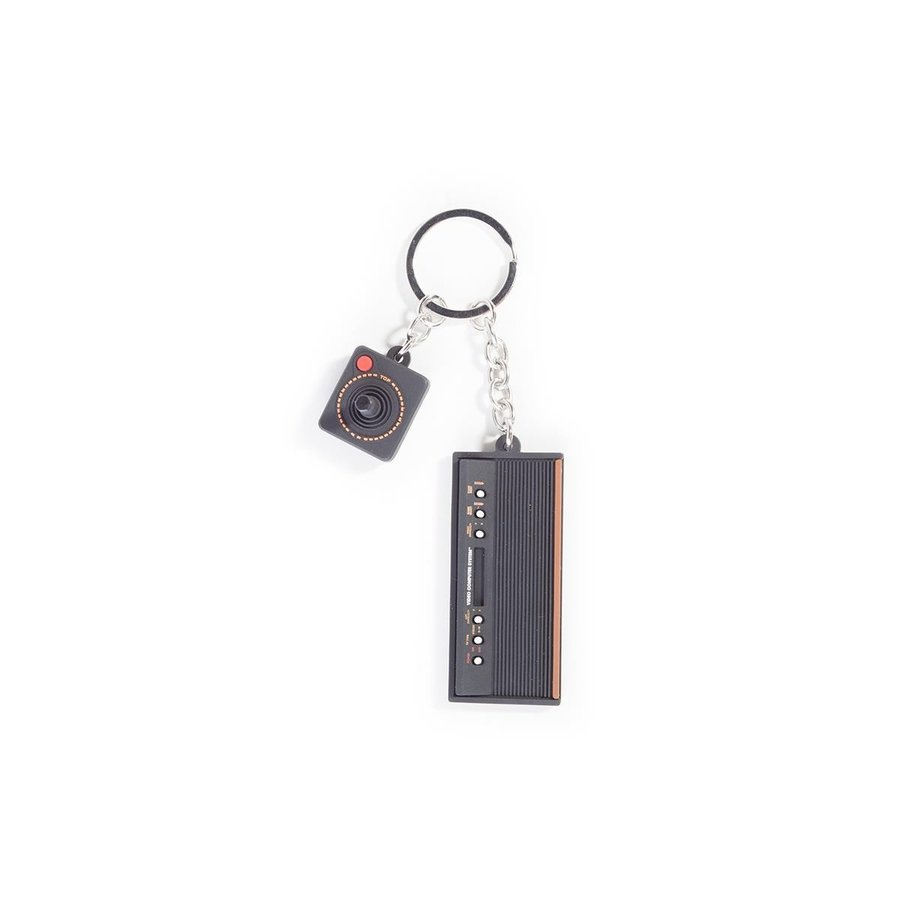 Atari - 3D Console & Joystick Rubber Keychain (New)