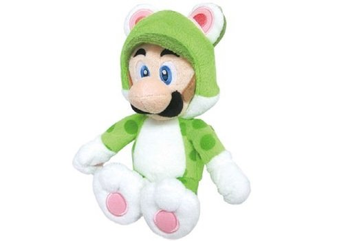 Super Mario - Luigi Cat Plush 30 cm
