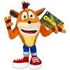 Crash Bandicoot - Crash Plush 22 cm (New)
