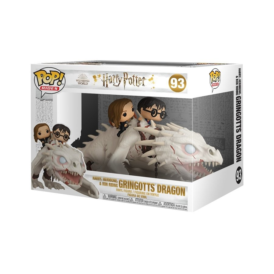 Harry Potter Rides POP! Vinyl Figure Dragon with Harry Ron and Hermione 17 cm (PRE-ORDER)