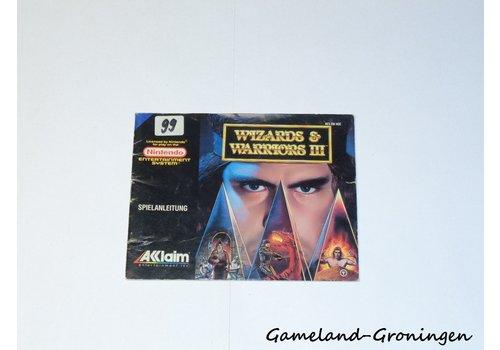 Wizards & Warriors III (Handleiding, NOE)