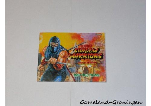 Shadow Warriors Ninja Gaiden (Manual, FRA)