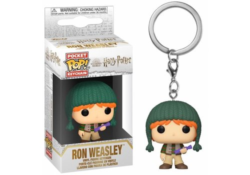 Harry Potter Holiday Pocket POP Keychain -Ron Weasley