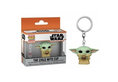 Star Wars The Mandalorian Pocket POP Keychain - The Child with Cup