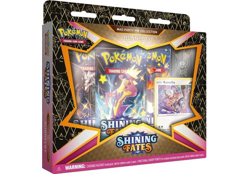 Pokémon TCG - Shining Fates Mad Party Pin Collection Bunnelby