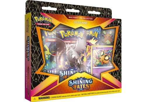 Pokémon TCG - Shining Fates Mad Party Pin Collection Dedenne