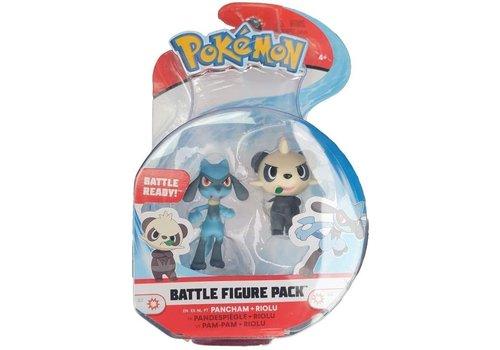 Pokémon - Battle Figure 2-Pack Pancham & Riolu