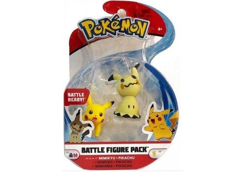 Pokémon - Battle Figure 2-Pack Mimikyu & Pikachu