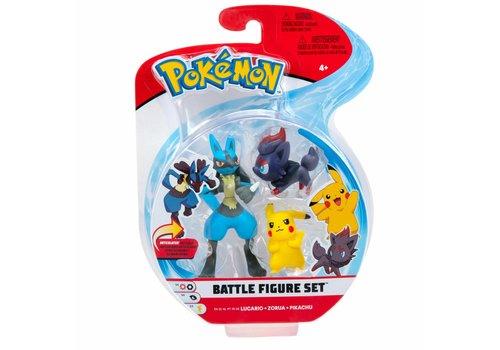 Pokémon - Battle Figure 3-Pack Lucario, Zorua & Pikachu