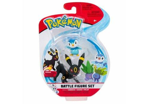 Pokémon - Battle Figure 3-Pack Umbreon, Oddish & Piplup