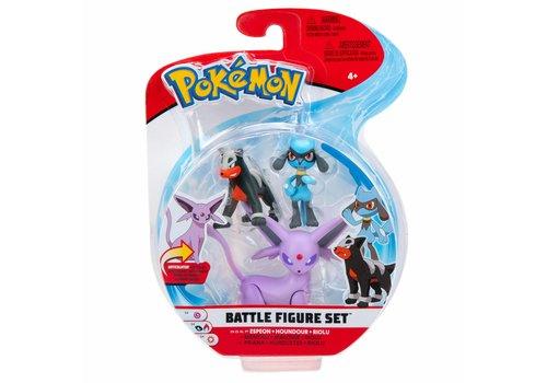 Pokémon - Battle Figure 3-Pack Espeon, Houndour & Riolu