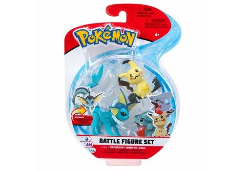 Pokémon - Battle Figure 3-Pack Vaporeon, Mimikyu & Gible