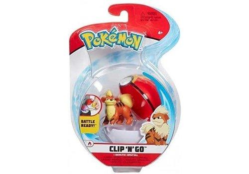 Pokémon - Clip 'n Go Growlithe & Repeat Ball