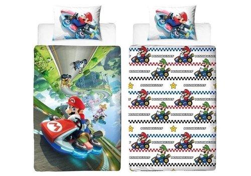 Super Mario - Mario Kart Dekbedovertrek 140 x 200 cm
