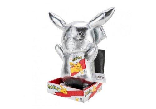 Pokémon - 25th Anniversary Silver Pikachu Knuffel 30 cm
