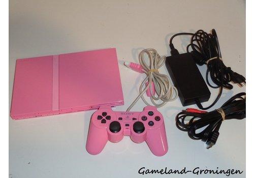 PlayStation 2 Slimline met Controller & Bedrading (Roze)