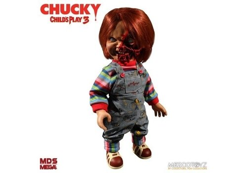 Child's Play 3 - Mega Scale Pizza Face Chucky Talking Action Figure
