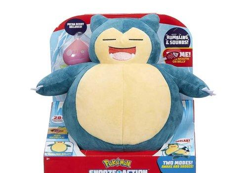 Pokémon - Snooze Action Snorlax Plush 25 cm