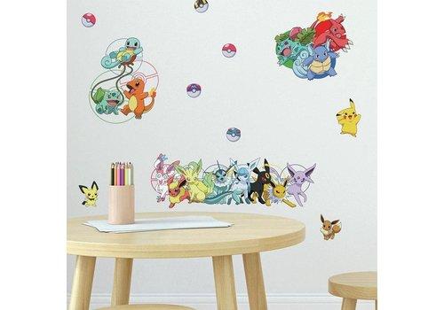 Pokémon - Characters Wall Stickers 27 x 13 cm