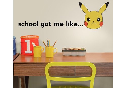 Pokémon - Pikachu School Wall Stickers 93 x 23 cm