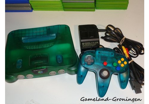 Nintendo 64 met Controller & Bedrading (Aqua Blue)