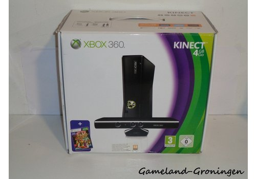 Xbox 360 Slim 4GB met Controller & Bedrading (Kinect Pack)