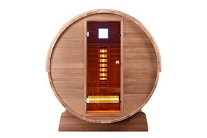 Infra4Health Barrel sauna infrarood CLEAR