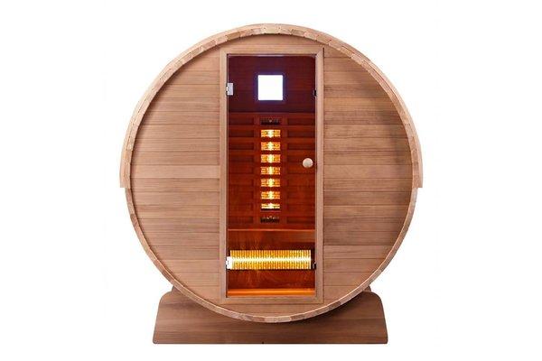 Infra4Health Barrel sauna infrarood CLEAR