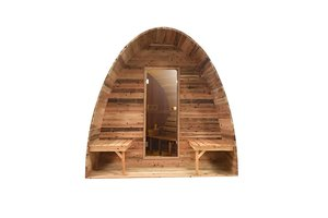 Infra4Health Sauna Pod red cedar KNOTTY