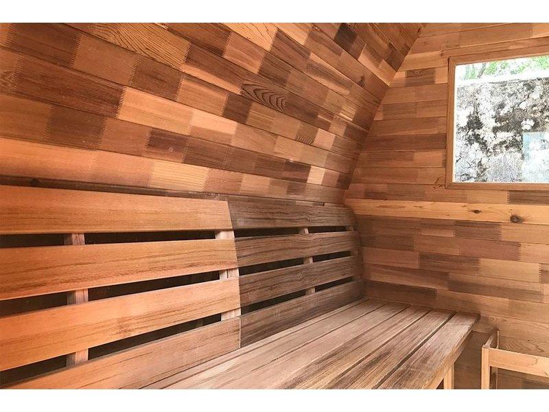Infra4Health Sauna Pod red cedar KNOTTY