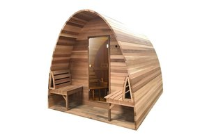 Infra4Health Sauna Pod  red cedar CLEAR